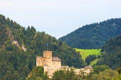 Красивый вид замка Niedzica Стоковая Фотография RF