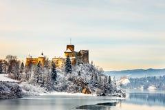 Красивый вид замка Niedzica Стоковые Изображения RF