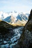 Красивый вид и ледник в держателе варят национальный парк, юг стоковая фотография