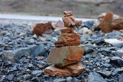 Красивый вид камней в одичалом Стоковое фото RF