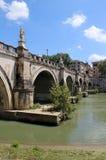 Красивый вид моста Рима, Италии Стоковое фото RF