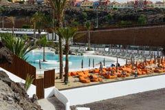 Красивый вид на бассейне в гостиничном комплексе тяжелого рока Стоковая Фотография RF