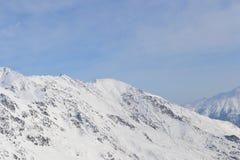 Красивый вид на горах Славный ландшафт гор зимы Стоковое Изображение