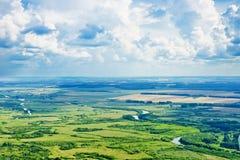 Красивый вид над землей Стоковые Изображения RF
