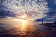 Красивый вид на маяке Стоковая Фотография RF