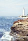 Красивый вид на маяке Стоковые Изображения RF