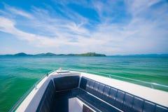 Красивый вид на море от быстроходного катера Стоковое Изображение