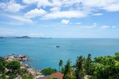 Красивый вид на море, Koh Samui, Таиланд Стоковое Изображение RF