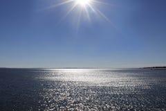 Красивый вид на океан, сверкная океан Стоковое Изображение RF