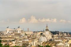Красивый вид обозревая Рим стоковое изображение