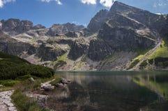 Красивый вид озера горы в высоком Tatras Польша Стоковое Изображение RF