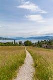 Красивый вид озера Цюрих и горных вершин стоковые изображения rf