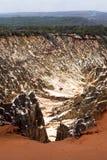 Красивый вид размывания каньона бороздит, в запасе Tsingy Ankarana, Мадагаскаре Стоковое фото RF