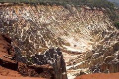 Красивый вид размывания каньона бороздит, в запасе Tsingy Ankarana, Мадагаскаре Стоковые Изображения RF