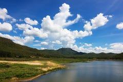 Красивый вид резервуара Стоковое Изображение