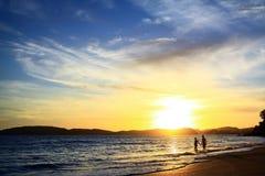 Красивый вид, романс, влюбленность, океан Стоковая Фотография RF