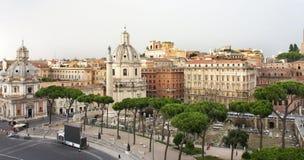 Красивый вид руин римской империи, Рим Стоковое Фото