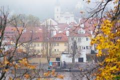 Красивый вид старого города Праги Стоковые Изображения