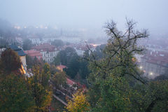 Красивый вид старого города Праги Стоковые Фото