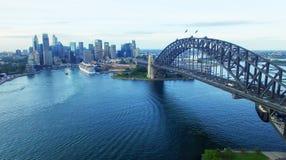 Красивый вид с воздуха горизонта Сиднея Стоковые Фотографии RF
