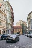 Красивый вид улиц Праги Стоковое фото RF