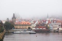 Красивый вид улиц Праги Стоковое Фото