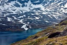 Красивый вид Dalsnibba в Норвегии Стоковое фото RF