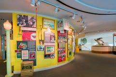 Красивый внутренний взгляд музея положения Калифорнии стоковое изображение