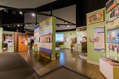 Красивый внутренний взгляд музея положения Калифорнии стоковые фотографии rf