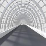 Красивый внутренний перевод - длинний коридор Стоковые Изображения