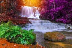 красивый водопад в тропическом лесе на phet горы berk ушата phu стоковые фотографии rf