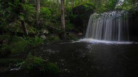 Красивый водопад в Phukradung, водопад Таиланда Wangkwang провинции Loei в местном названии акции видеоматериалы