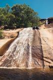 Красивый водопад на национальном парке залива лужайки для игры в шары, Alligato стоковые фотографии rf