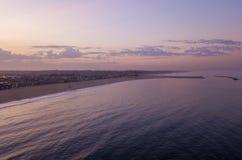 Красивый воздушный взгляд захода солнца ареной Стоковые Фотографии RF