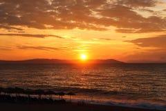 Красивый восход солнца в море или заходе солнца Стоковое фото RF