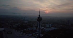 Красивый восход солнца в Alor Setar erial взгляд Alor Setar Малайзии акции видеоматериалы