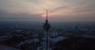 Красивый восход солнца в Alor Setar erial взгляд Alor Setar Малайзии сток-видео