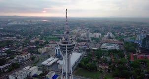 Красивый восход солнца в Alor Setar erial взгляд Alor Setar Малайзии видеоматериал