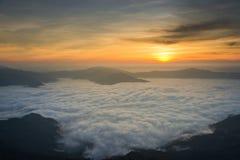 Красивый восход солнца в Chiang Rai Таиланде Стоковая Фотография