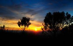 Красивый восход солнца в montains стоковые изображения rf