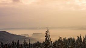 Красивый восход солнца горы, жизнь под небом видеоматериал