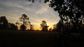Красивый восход солнца на зоре с различными цветами стоковое фото rf