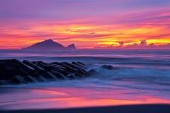Красивый восход солнца в Тайване Стоковые Изображения RF