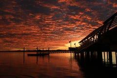 Красивый восход солнца и мола Стоковое Изображение RF