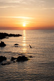 Красивый восход солнца над морем в Болгарии Стоковые Фото