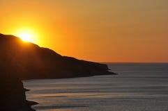 Красивый восход солнца над океаном Стоковые Фотографии RF