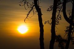 Красивый восход солнца на Phu Ruea Стоковая Фотография