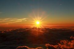 Красивый восход солнца, Mount Fuji Япония Стоковые Изображения RF