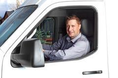 Красивый водитель грузовика. Стоковые Изображения