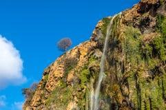 Красивый водопад в Марокко Стоковая Фотография